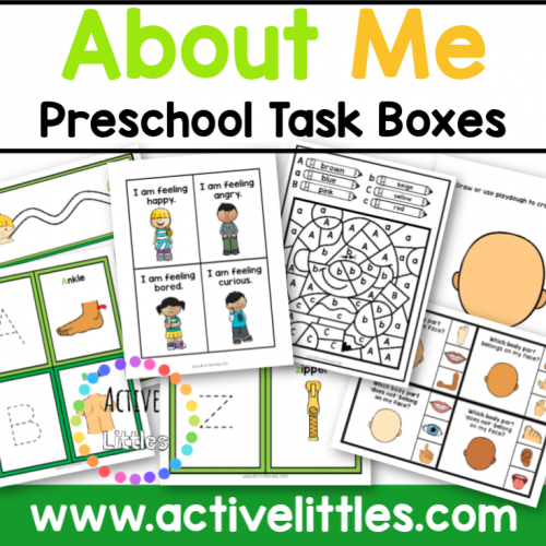 About Me Preschool Task Box