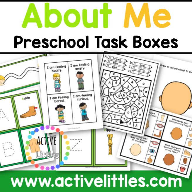 About Me Preschool Task Box