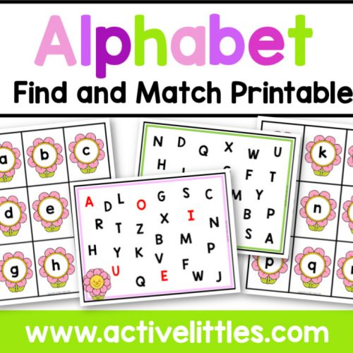 Alphabet Find and Match Printable - Active Littles
