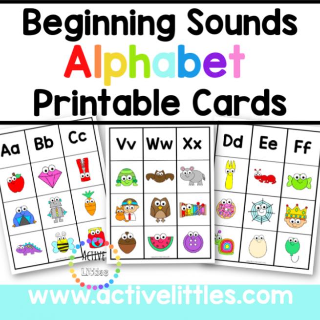 Beginning Sounds Alphabet Printable - Active Littles