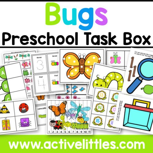 Bugs Preschool Task Box - Active Littles