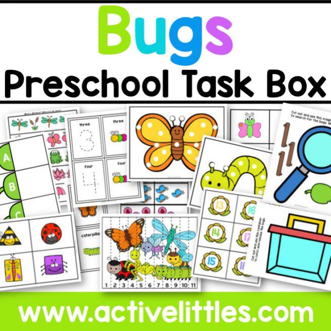 Bugs Preschool Task Box - Active Littles