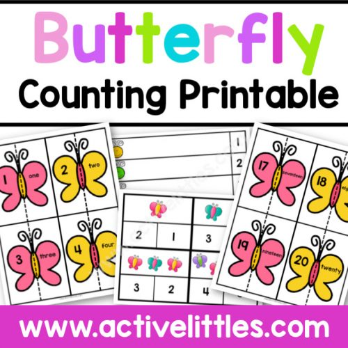 Butterfly Counting Printable - Active Littles