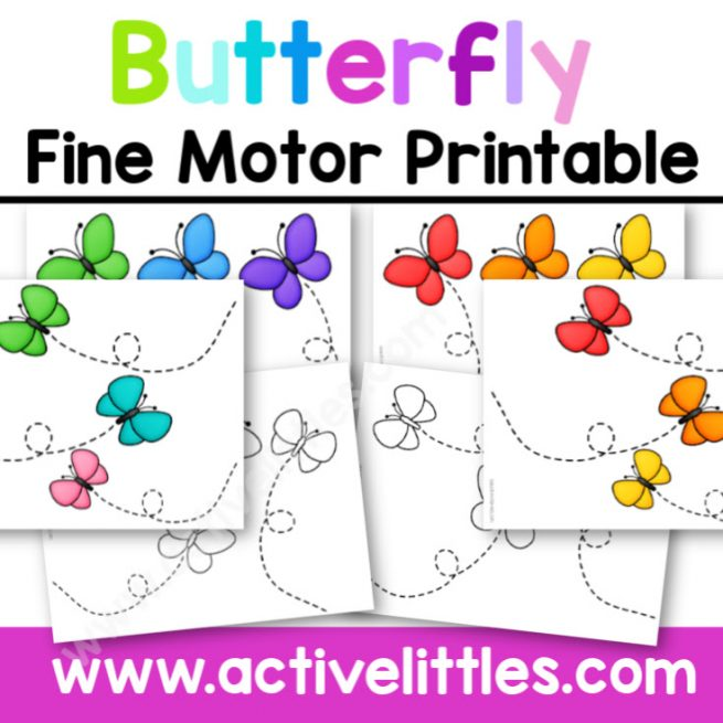 Butterfly Fine Motor Printable - Active Littles