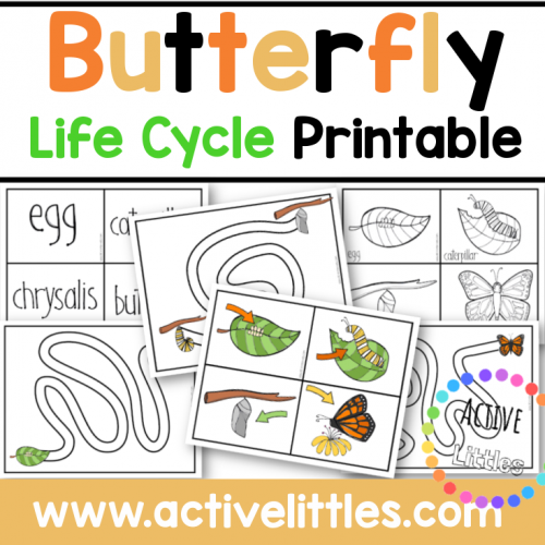 Butterfly Life Cycle Printable for Kids - Active Littles