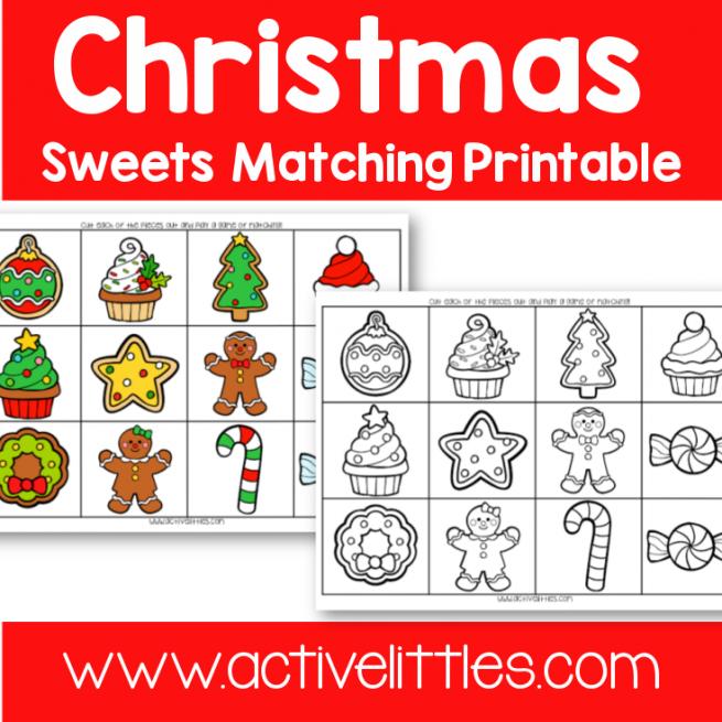 Christmas Cookies Matching Memory Game Printable - Active LittlesChristmas Cookies Matching Memory Game Printable - Active Littles