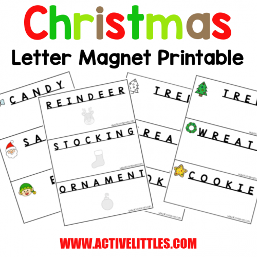 Christmas Letter Magnet Word Search Printable - Active Littles