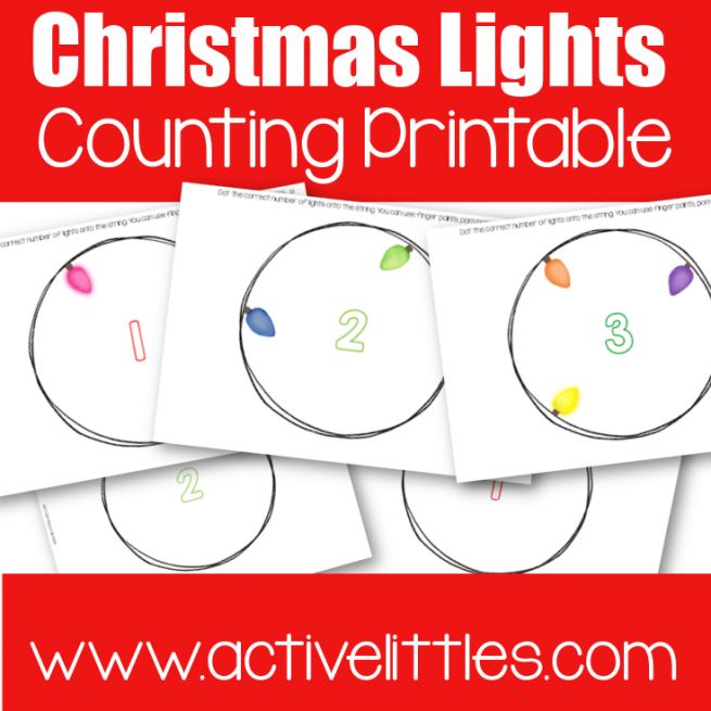 Christmas Lights Counting Printable preschool printable