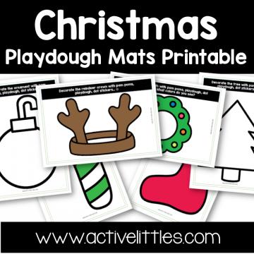 Christmas Playdough Mats toddler Printable