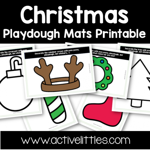 Christmas Playdough Mats toddler Printable