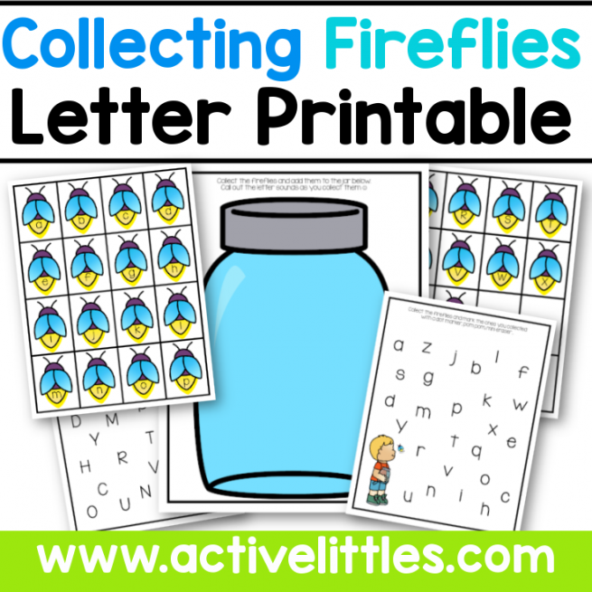 Counting Fireflies Letter Printable for Kids