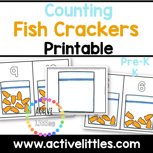 Counting Fish Crackers printable