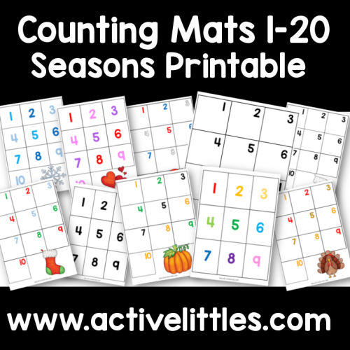 Counting Placemats + Seasons Printable - Active Littles