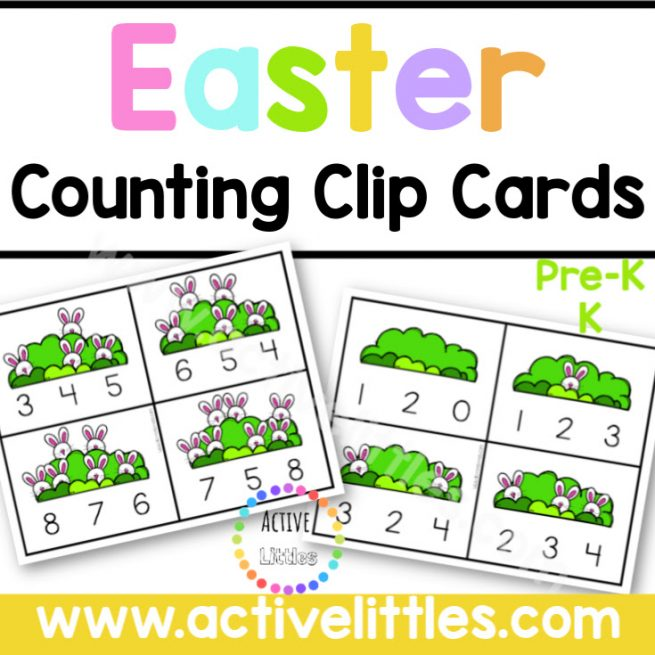 Easter Counting Clip Cards Printable - Active Littles copy