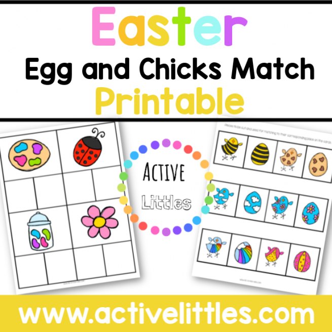 Easter Egg and Chicks Match Printable - Active Littles-2