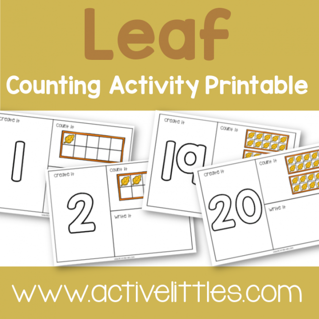 Fall Counting Placemats Printable - Active Littles
