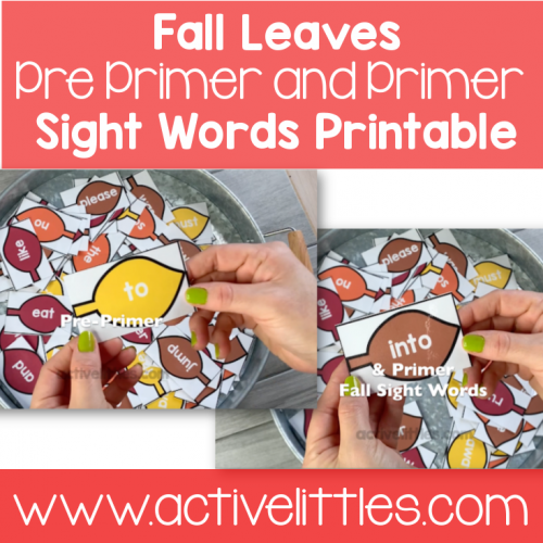 Fall Leaves Sight Word Pack