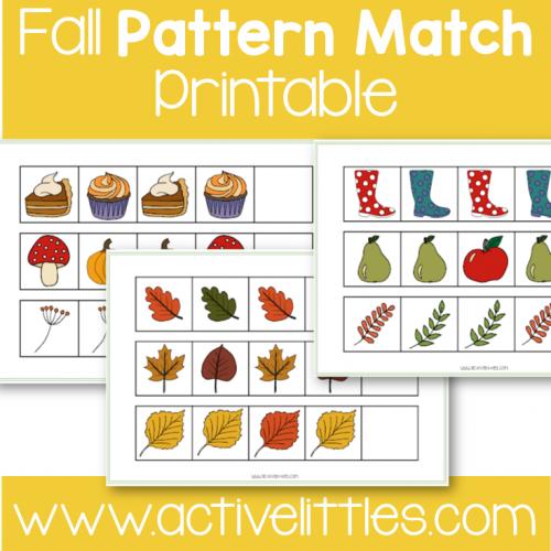 Fall Pattern Match toddler printable