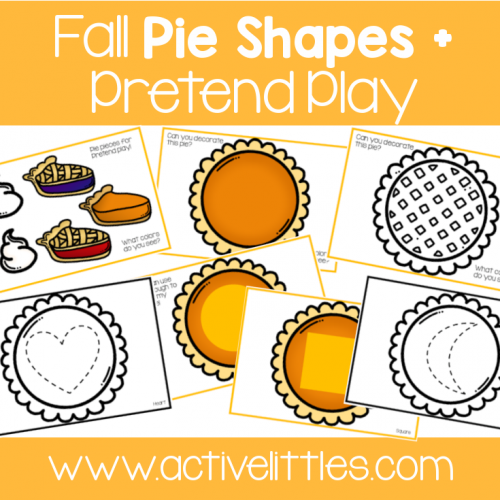 Fall Pie Placemats toddler printable