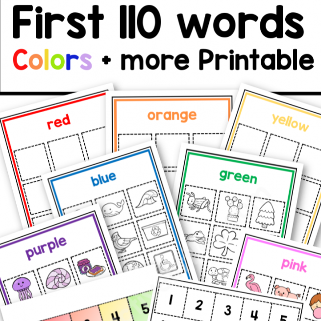 Toddler Busy Book Colors