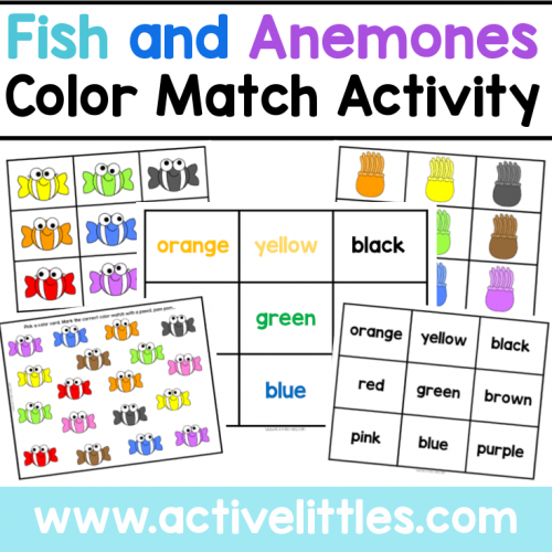 Fish and Anemone Color Match Activity for Kids