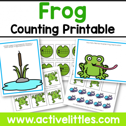 Frog Counting Printable Preschool for Kids