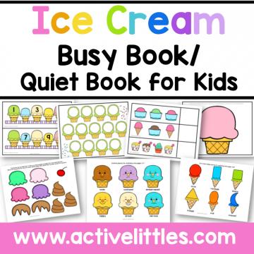Ice Cream Activity Binder Busy Book