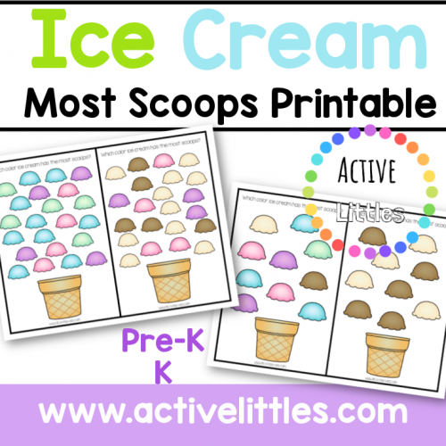 Ice Cream Most Scoops Printable