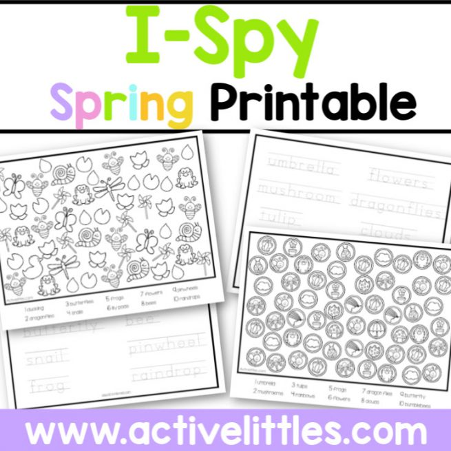 Ispy Spring Printable - Active Littles