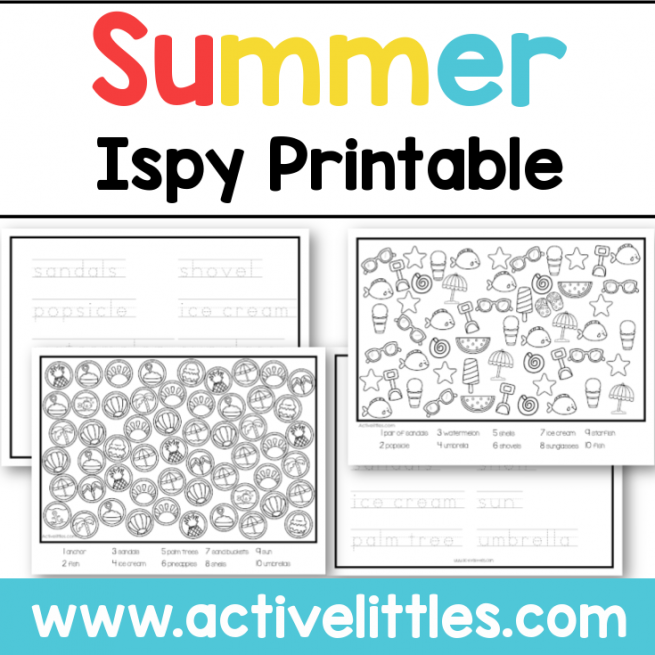 Ispy summer printable - Active Littles