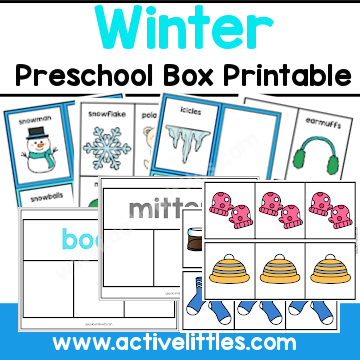 Winter Preschool Activity Binder