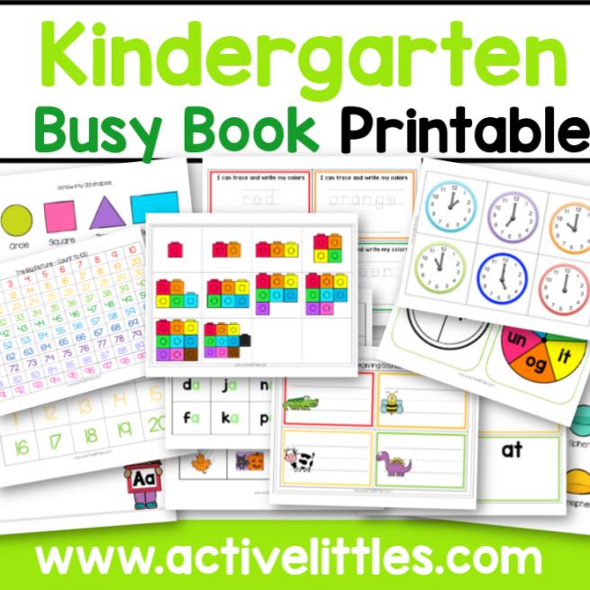Kindergarten Busy Book