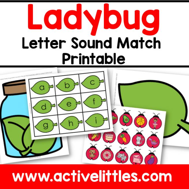 Ladybug Letter Sound Match Printable for Kids - Active Littles