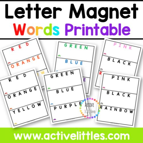 Letter Magnet Word Cards Printable - Active Littles