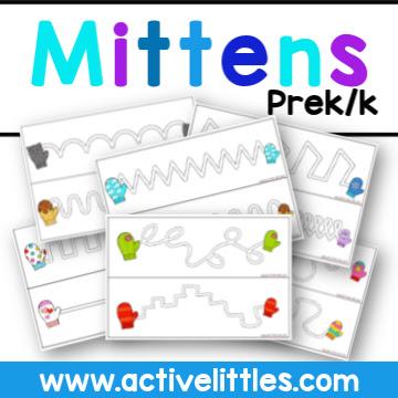 Mittens Preschool and Kindergarten Printable