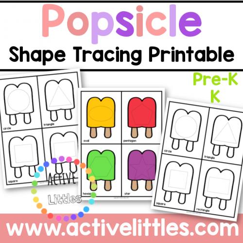 Popsicle Shape Tracing Printable for Kids