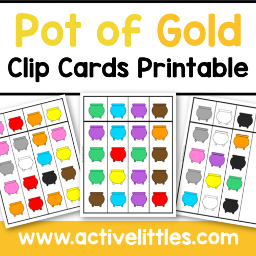 Pot of Gold Clip Cards Printable - Active Littles