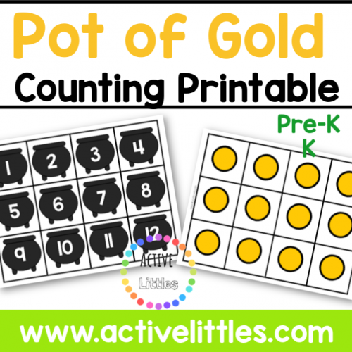 Pot of Gold Counting Printable