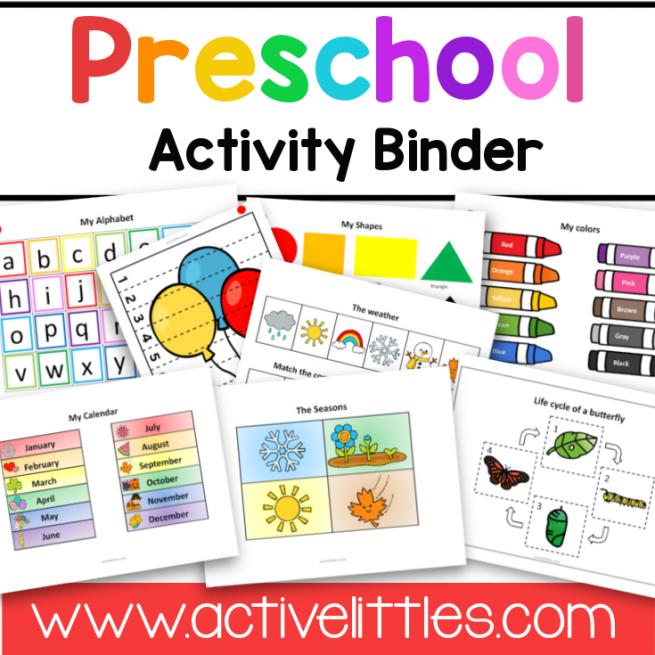 Preschool Activity Binder Image
