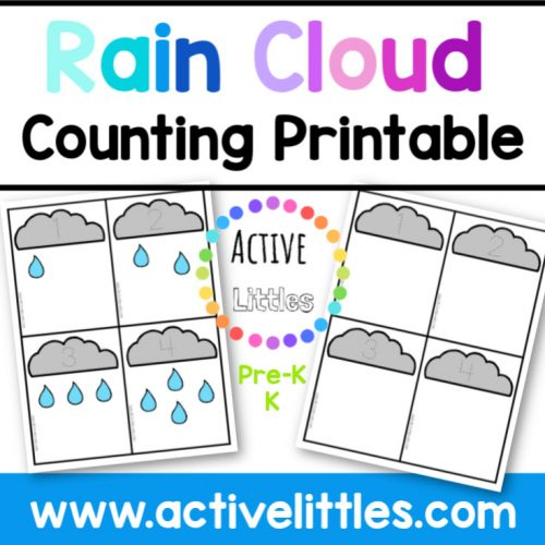 Rain Cloud Counting Printable - Active Littles