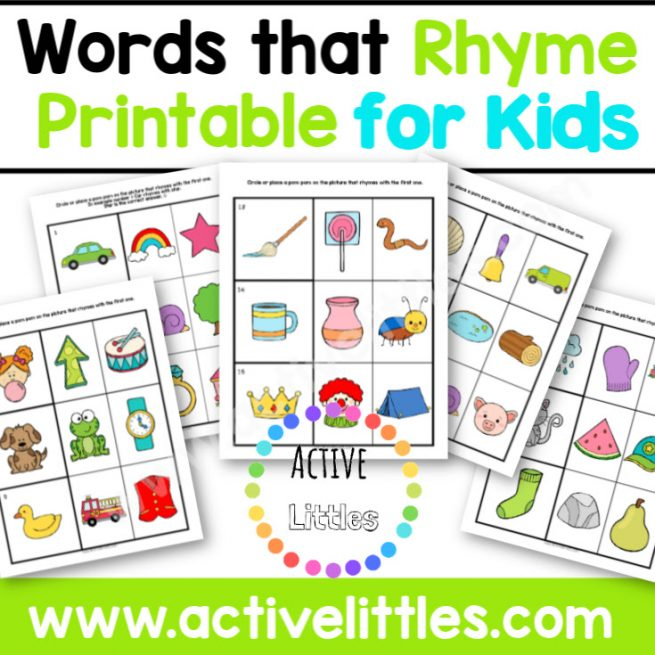 Rhymes for Kids Printable - Active Littles