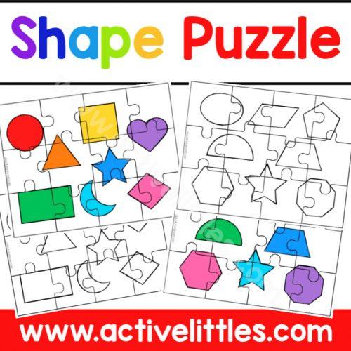 Shape Puzzle Printable - Active Littles