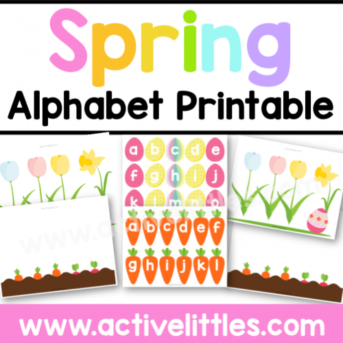 Spring Alphabet Learning Game Printable - Active Littles-2