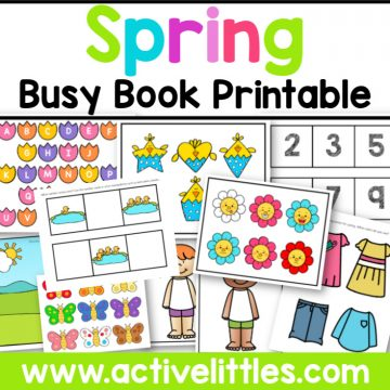 Spring Busy Book Activity Binder