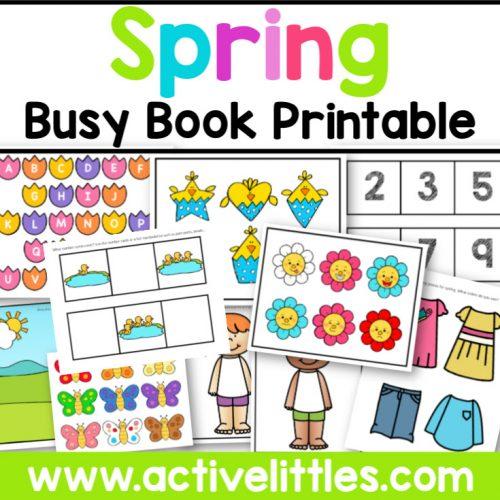 Spring Busy Book Activity Binder