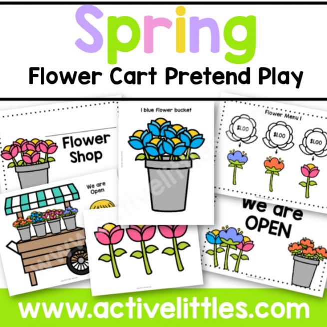 Spring Flower Cart Pretend Play Printable - Active Littles-2