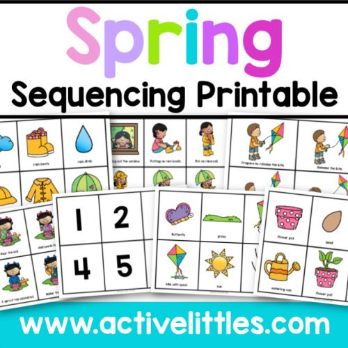 Spring Sequencing Printable - Active Littles