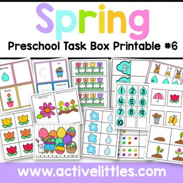 Spring Task Boxes 6 Printable - Active Littles copy