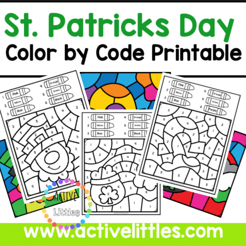 St Patricks Day Color by Code Printable