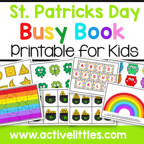 St. Patricks Day Busy Book Printable - Active Littles-2